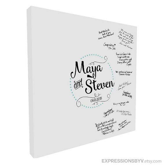 Guest Book Alternative Canvas Print   Guest book canvas print is a unique way to create a lasting keepsake for a special occasion. Birthdays,