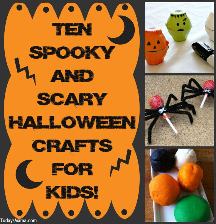 ten spooky and scary halloween crafts for kids - Scary Halloween Crafts