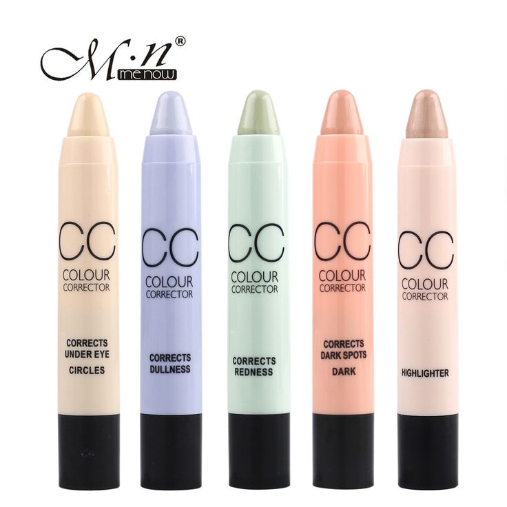 2017 Hot    CC 6 Colors Highlighter Pen Waterproof  Concealer Stick Color Correction Black Eye Red  Mar23