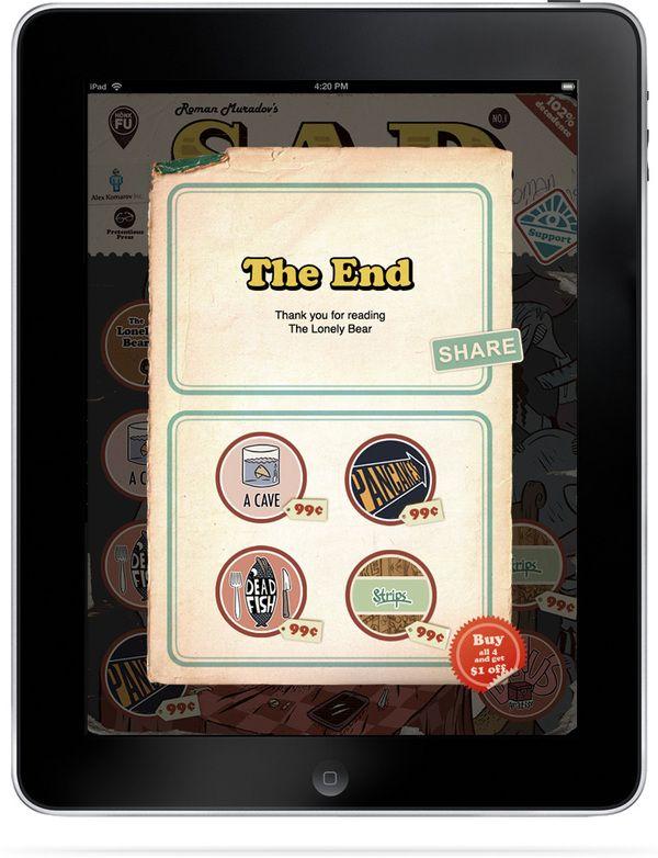 Sad Comics App on Behance
