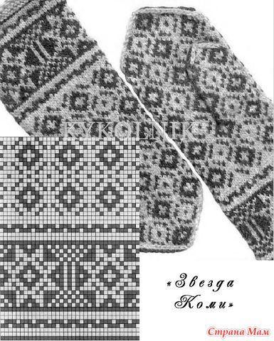 Узоры для оформления варежек и рукавичек... Жаккард. - Вязание - Страна Мам