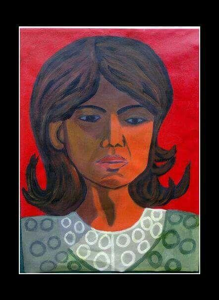 Portrait of a woman  Acrylic on canvas