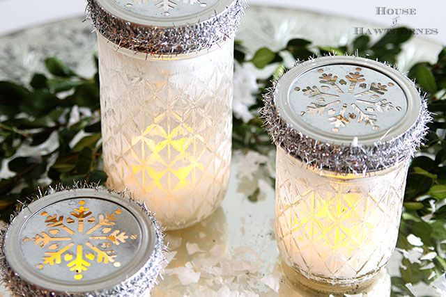 Hometalk :: Quick And Easy Christmas Luminarias From Mason Jars