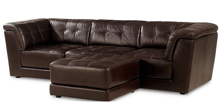 Stacey Leather 4-Piece Modular Sectional Sofa from Macy's