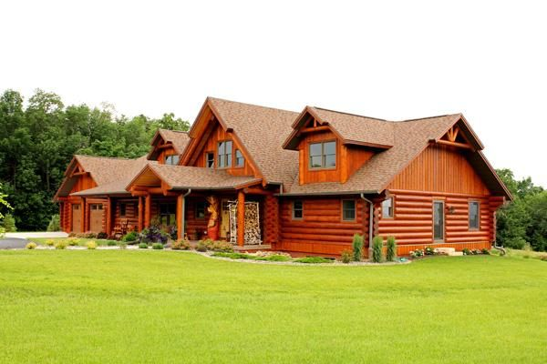 112 best images about real log homes on pinterest for Craftsman style log homes