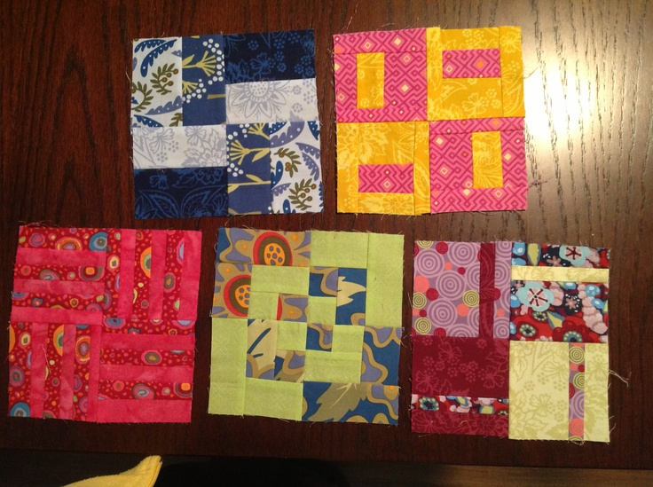 Second group of 5 blocks.  I choose to do the first five in each section.