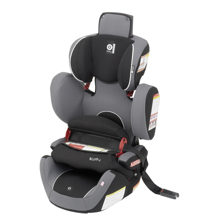 Kiddy World Plus Car Seat in Phantom. $299.99  ***FEATURES*** Original Kiddy Protection Shield - Side Impact Protection - Easy Adjustable Headrest - 2-way Folding Seat Cushion - Lightweight Design (Only 15 lb.) - Integrated Shoulder Belt Guides - Durable Cover - Comfortable Armrest - Can be used in aircraft.