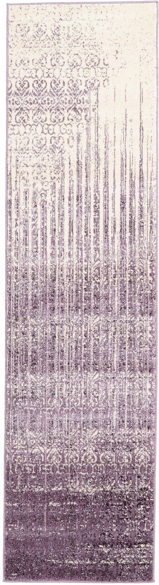 "Demetria 2'7"" x 10' Rug in Purple"