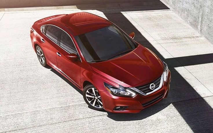 2017 Nissan Altima Sedan, Aerial View, Shown In Cayenne Red With Lowered  Muscular Fascia