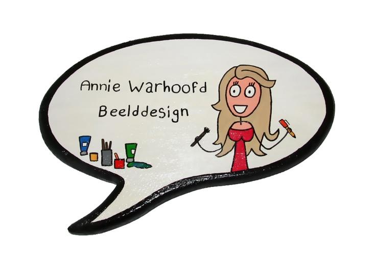 Naambord van Annie Warhoofd Beelddesign