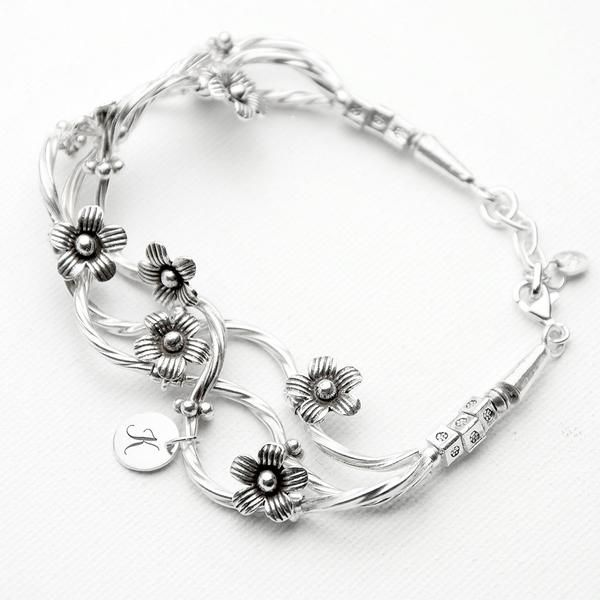 Sterling Silver Personalised 'Forget Me Knot' Bracelet – Luxe Gift Store