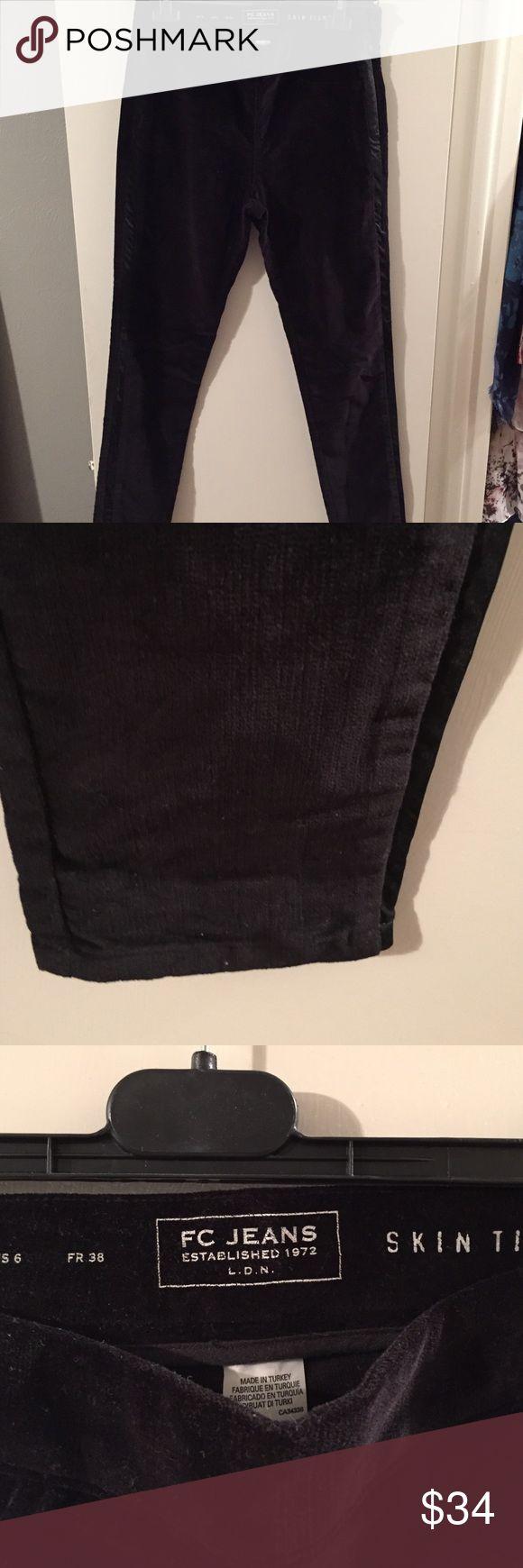 French Connection velvet tuxedo pants Velvet tuxedo style skinny pants, worn once in Vegas French Connection Pants Skinny