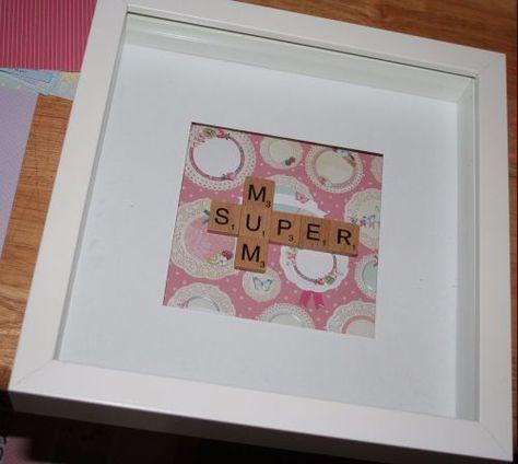 Super Mum Scrabble Frame