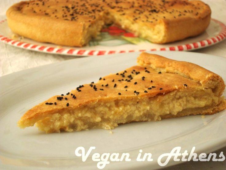 Τυρόπιτα με τόφου και βέγκαν τυρί - Vegan in Athens