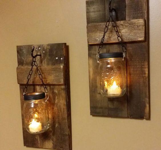Best 20 mason jar candle holders ideas on pinterest for Mason jar holder ideas