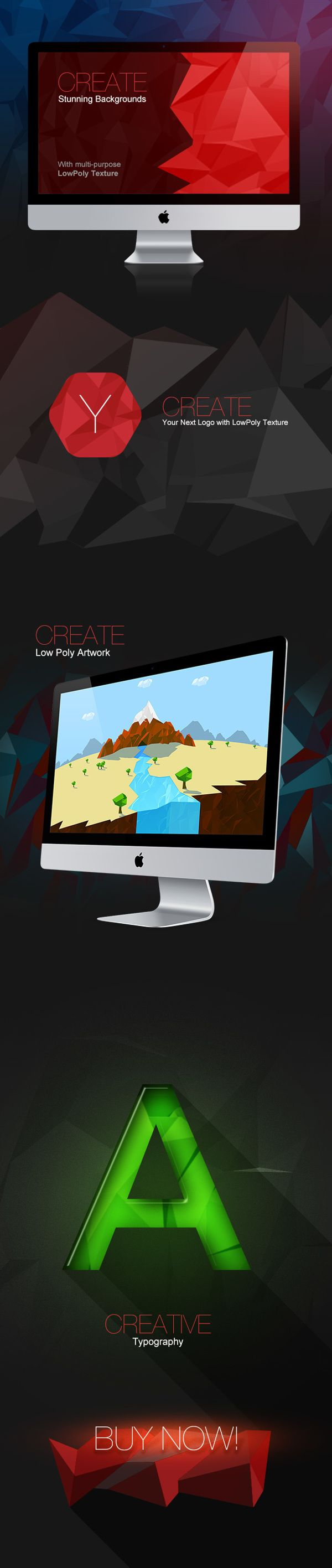 Low Poly Multi-purpose Texture (Web Design)