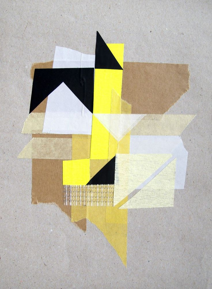 Again, just the touch of the black triangles gives this image so much energy. Love the textures and the mixed media.