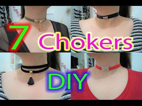 7 DIY Ideas Cómo hacer Chokers Gargantillas de Moda 2017 - YouTube