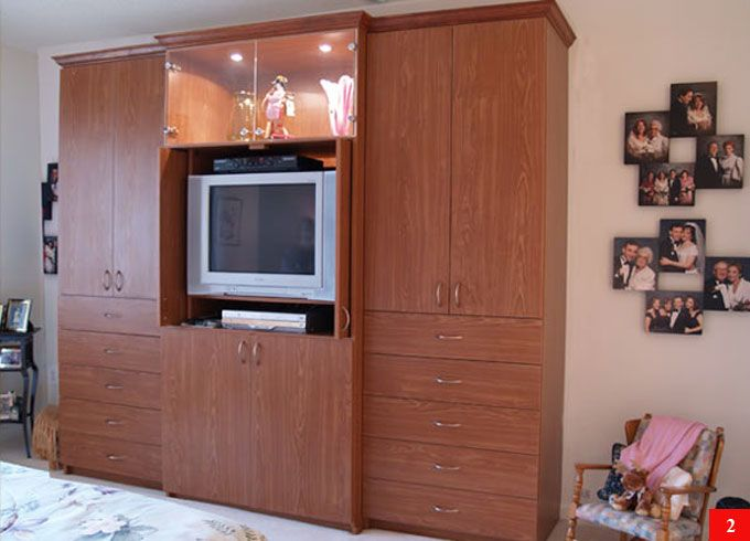 Aventa TV Wall Unit X Tall   10 Door Wardrobe Wall Unit For Bedrooms