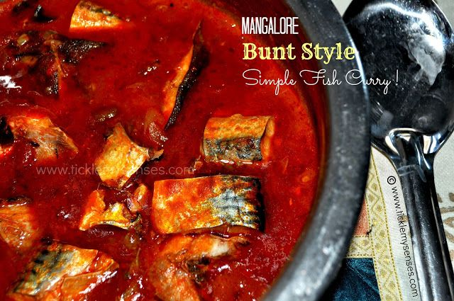 Tickle My Senses: Mangalore Bunt Style- Simple Fish Curry without Coconut.