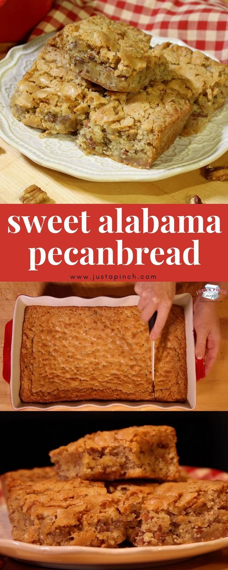 Sweet Alabama Pecanbread is a quick and easy recipe that's great for breakfast or dessert! #pecanbread #desserts #dessertrecipes #breakfast #breakfastrecipes #easyrecipe