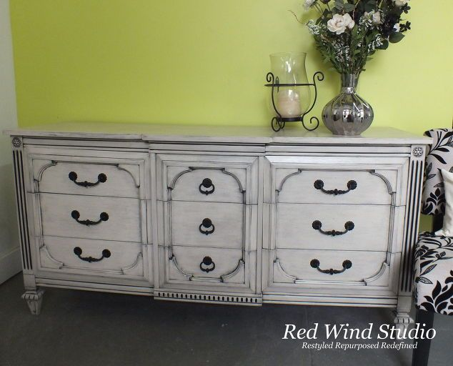 painted furniture dresser black wash, painted furniture