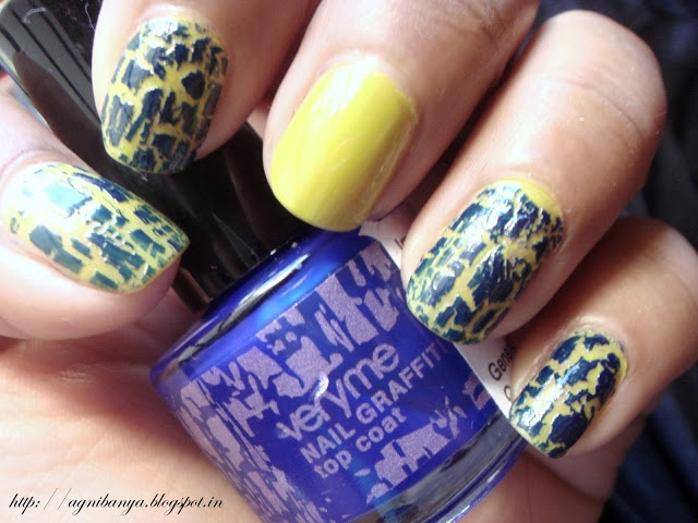Oriflame Very Me NAIL GRAFFITI Top Coat- Blue