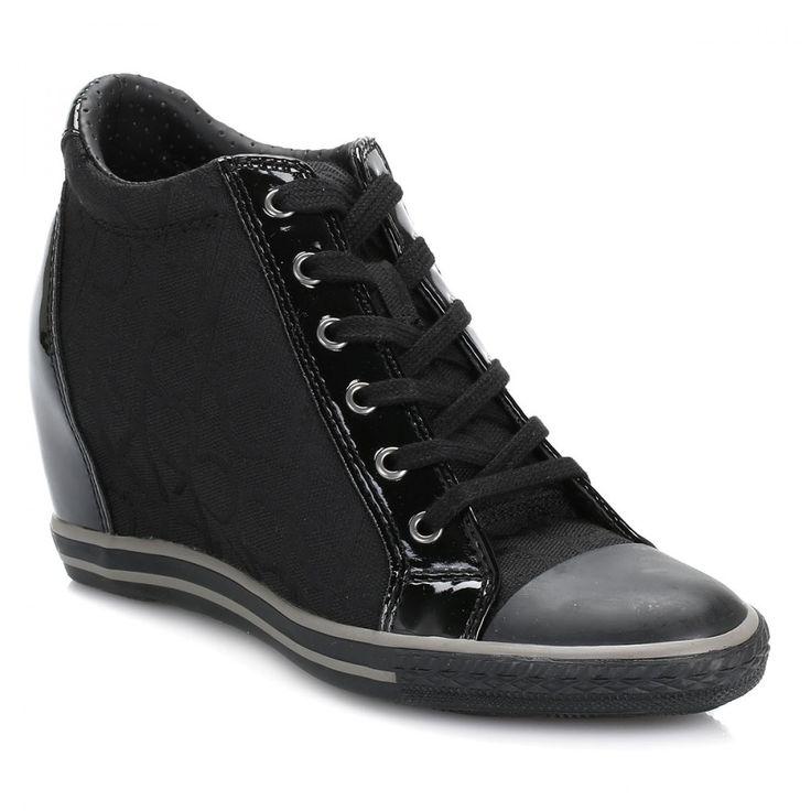 a54b4a9bcac6 Calvin Klein Jeans Womens Black Vero CK Logo Trainers