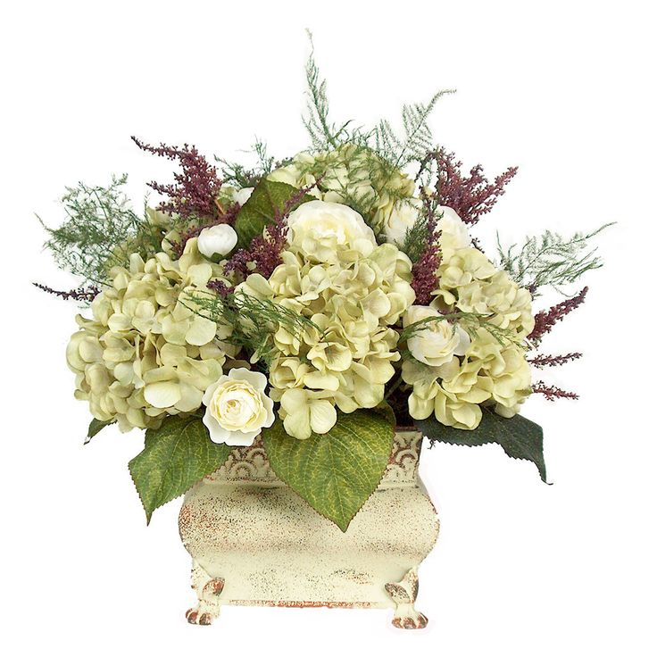 Celadon hydrangea floral arrangement floral arrangements for Foyer flower arrangement