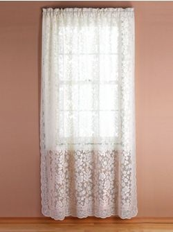 white lace curtains