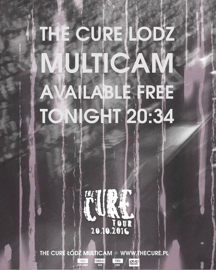 The Cure Lodz Multicam. Download for free Tonight 20:34CET #TheCure #Lodz #Multicam #free #fan #film #project #thecuretour2016 #RobertSmith #rock #pop #indie #goth #alternative #postpunk #80s #90s #music #video #instamusic #łódź #atlasarena #poland #concert #koncert #nazywo #live #download @thecure.com.ar @thecureargentina @thecuremexico_ @curefandoc @robertsmith @reevesgabrels @mylifelookslikethis @thecure @martinmarszalek