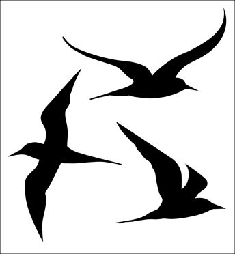 Click to see the actual SIB33 - Seagulls stencil design.