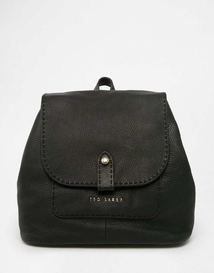 Ted Baker Exotic Stab Stitch Leather Backpack