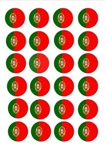 24-X-PORTUGAL-PORTUGUESE-FLAGS-EDIBLE-CUP-CAKE-TOPPERS-WAFER-RICE-PAPER