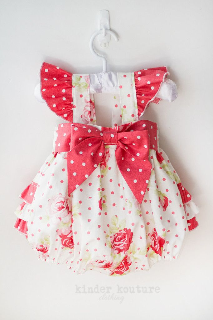 Pocket Full of Rosies Baby Bubble – Kinder Kouture. The shoulder straps button in the front, and includes two buttons for a great fit.