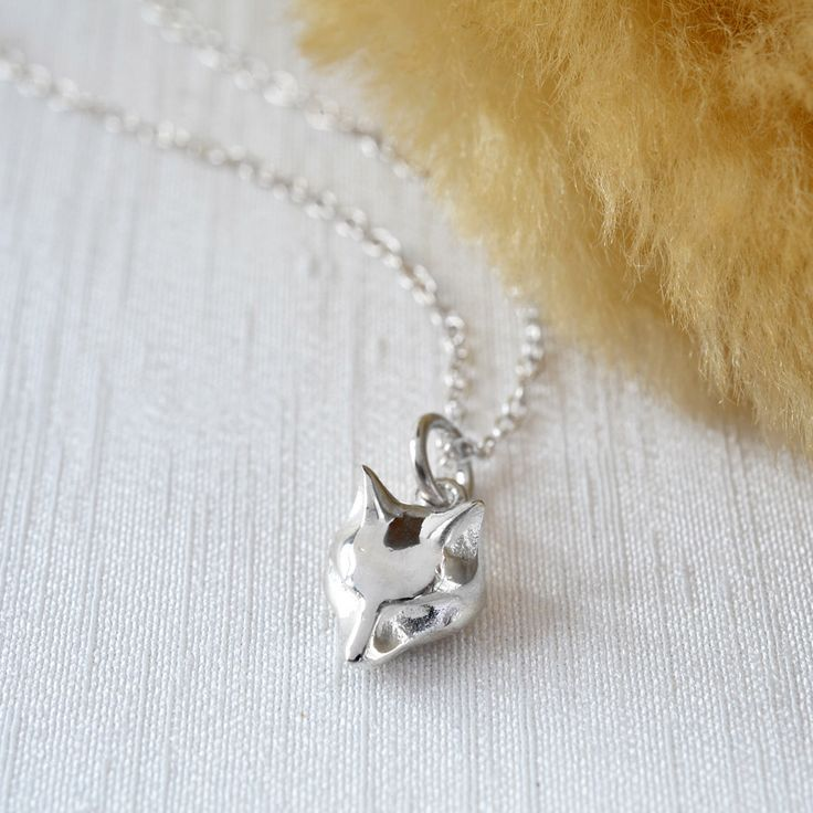 Sterling Silver Fox Charm Necklace. To personalise add a letter charm and message to the presentation card. by LilyCharmed on Etsy https://www.etsy.com/listing/243997067/sterling-silver-fox-charm-necklace-to