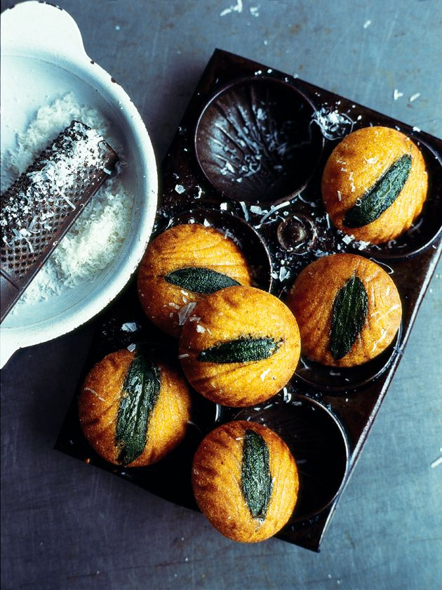 sage and polenta madeleines via Donna Hay