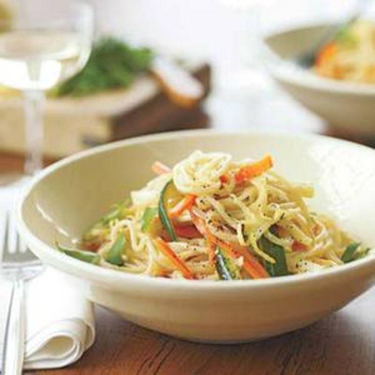 Creamy Spaghetti Primavera