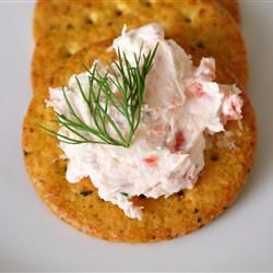 The perfect way to stretch pricey smoked salmon: Here, it's crumbled in cream cheese with fresh herbs and seasonings.