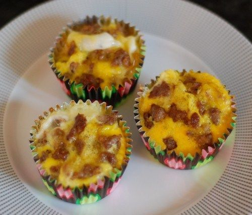 My daughter makes these and they are delicious.....Breakfast Casserole Bites by 100 Days of Real Food