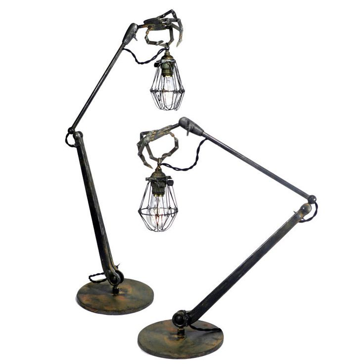 """Striking and Bizarre Hand Table Lamps""  Oooooh"