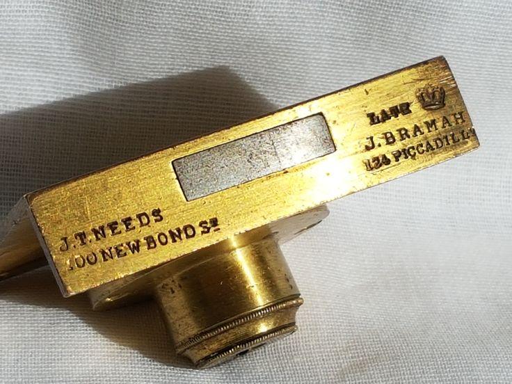 Antique J T Needs - Bramah patent lock