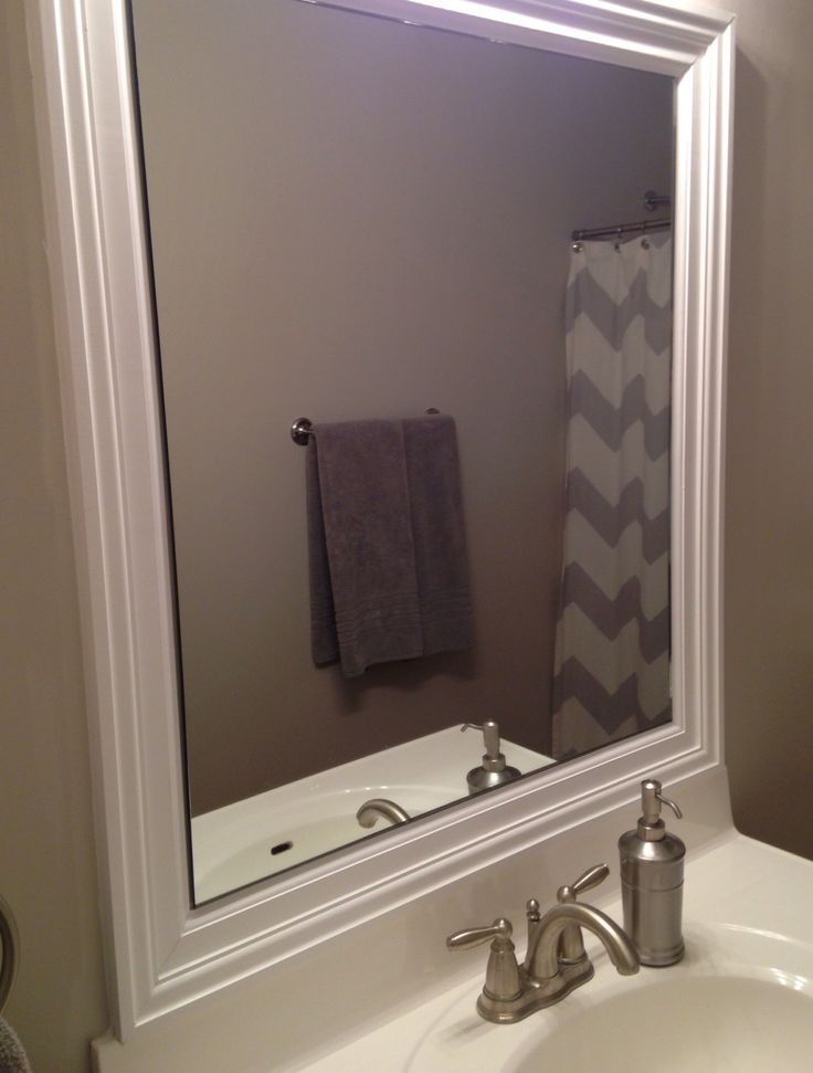 31 Best Images About Frame Bathroom Mirror On Pinterest