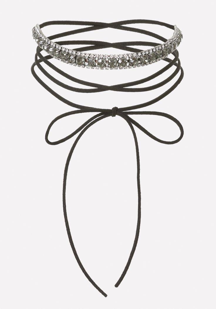 Crystal Velvet Tie Choker. I think I could make this...
