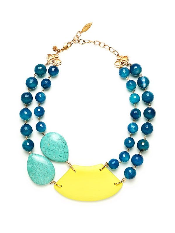 David Aubrey: Statement Necklaces, Color David Aubrey, Lrn416 David, Aubrey Chunky, Accessories, Aubrey Double, Jewelry Idea, Chunky Necklaces, Aubrey Necklaces