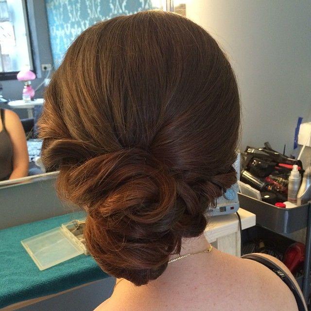 Textured side chignon #sidechignon #bridalhair