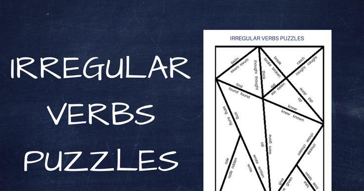 Irregular Verbs Puzzles. Puzzle z czasownikami nieregularnymi. Czasowniki nieregularne.