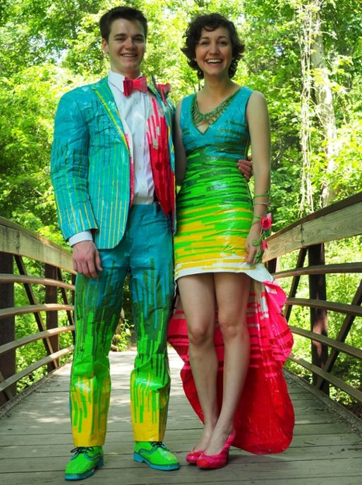 Duct tape prom attire--worth $20,000 in scholarships!