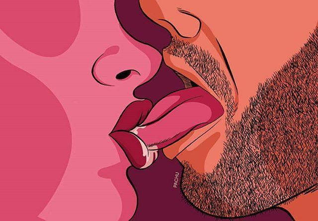 Love this! Give me a kiss..  _________________ Artwork @pachu_m_torres