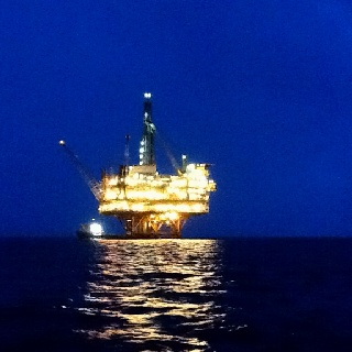 Petronas oil rig 115 miles out from Destin fla.